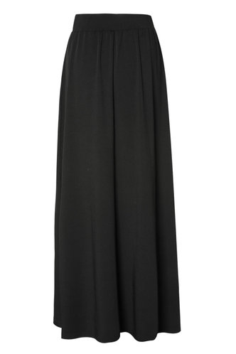 front_To The Maxi Black Skirt