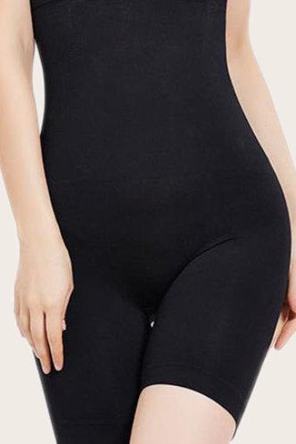 front_Violet Eartha Black Plus Shapewear Panty