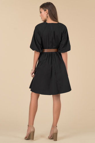 back_Nora Black Midi Dress