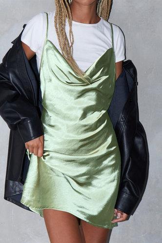 front_Emerald Light Green Slip Dress