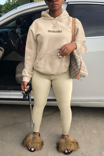 back_Letter Pullover Khaki Pants Sets