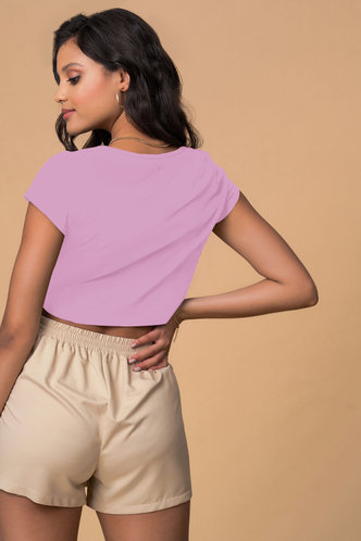back_Written With Love Purple Short Sleeve Top