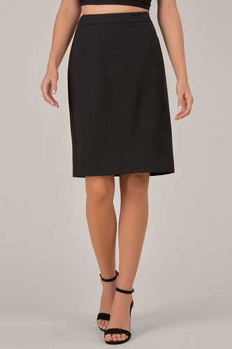 front_In Control Black Skirt