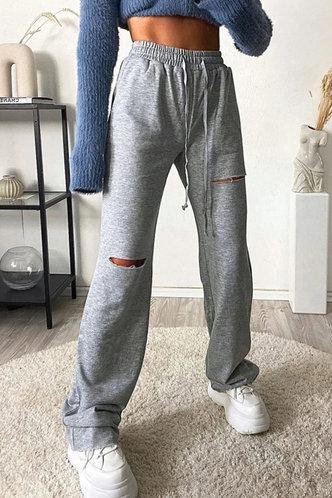 front_Shera Edwina Grey Sweatpants