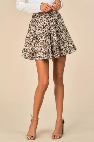 front_Cat Lady Leopard Print Skirt