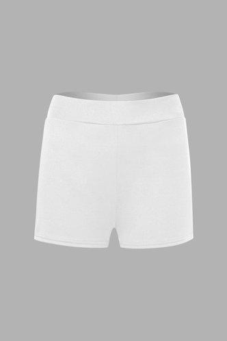 back_Genevieve Elva White Shorts
