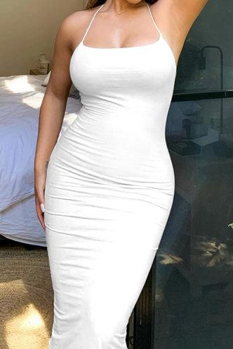 front_Lena Elvira White Cami Bodycon Dress