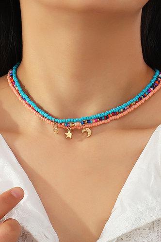 front_Hortense Elizabeth Multicolor Beaded Necklace 4pcs