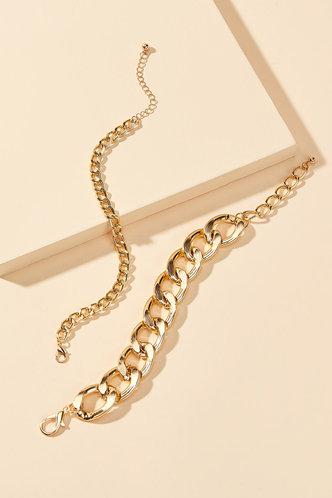back_Maggie Eartha Gold Simple Chain Bracelet