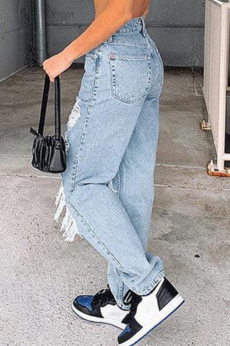 back_Odette Elma Wash Blue Ripped Jeans