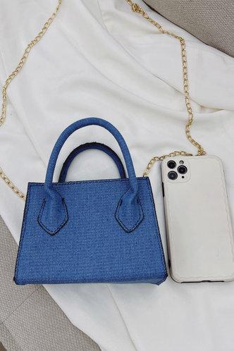 back_Faithe Fiskan Blue Satchel Bag