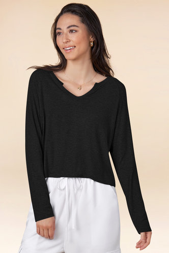 front_You Say {Color} Long Sleeve Top