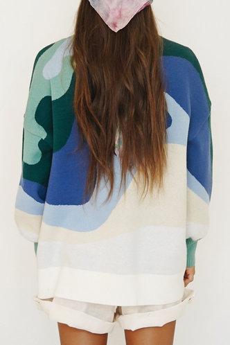 back_Elin Eve Multicolor Drop Shoulder Sweater