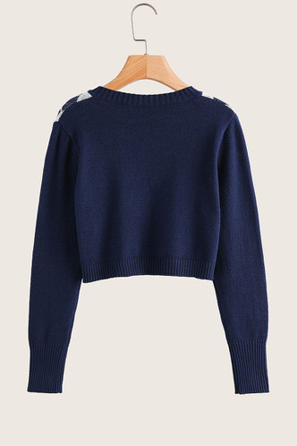 back_Anders Navy Blue Sweater