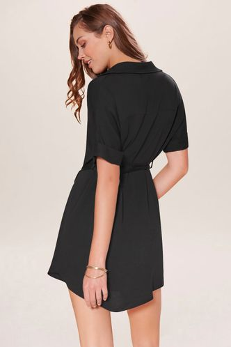 back_Creative Black Mini Dress