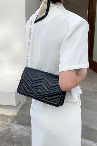 back_Maud Esther Black Crossbody Bag