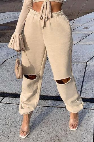 front_Adrienne Eve Khaki Pants