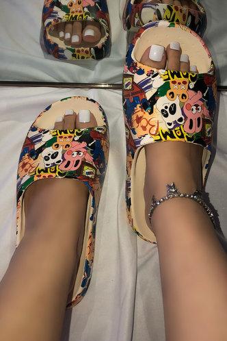 front_Alice Evangeline Multicolor Slides