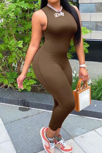 front_Estelle Evangeline Coffee Jumpsuit