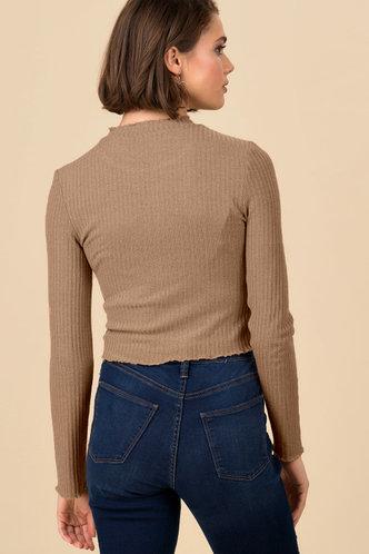 back_Fit Me In Brown Crop Top