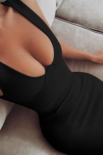 back_Arabella Elsa Black Bodycon Dress