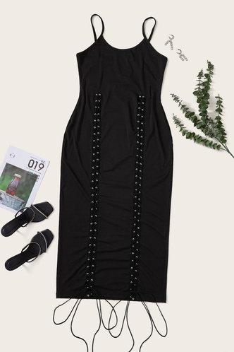 back_Carey Eunice Black Plus Size Dress