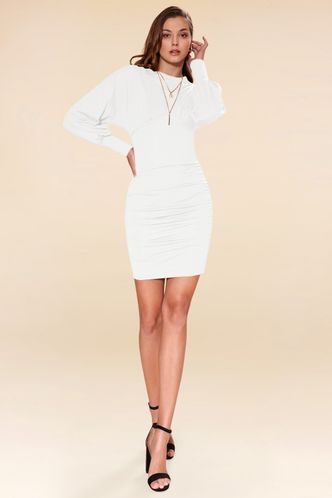 front_Notice Me Ivory Mini Dress