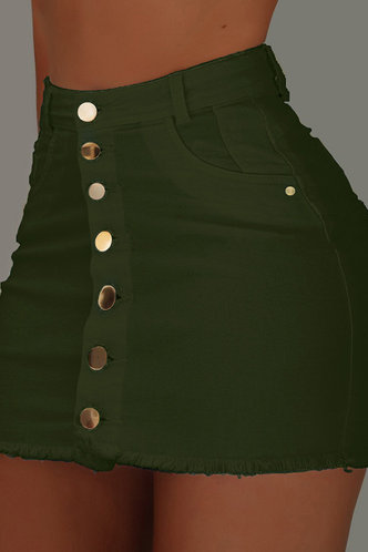 front_Inge Eden Dark Green Skirt