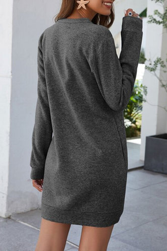 back_Maha Dark Grey Dress