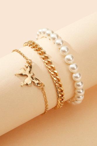 back_Mignon Eleanore Gold Faux Pearls Bracelet 3pcd