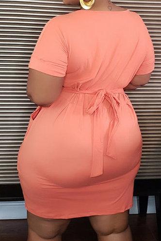 back_Eunice Kredeblo Coral Pink Plus Dress