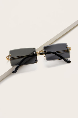 front_Summer Eleanore Black Metal Frame Tinted Lens Sunglasses