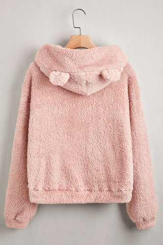 back_Cuddle Me Pink Hoodie