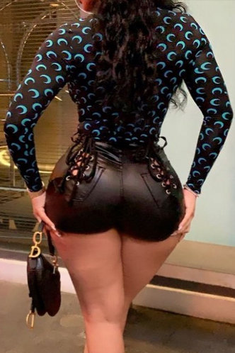 back_Darlene Nakan Black And Blue Mesh Top
