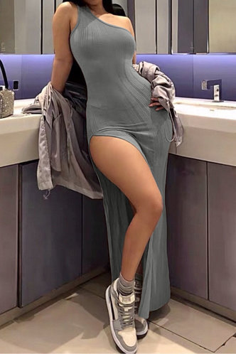 back_Adelina Evangeline Grey Dress