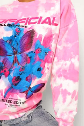 back_Matilda Eunice Pink Tie Dye Pullover