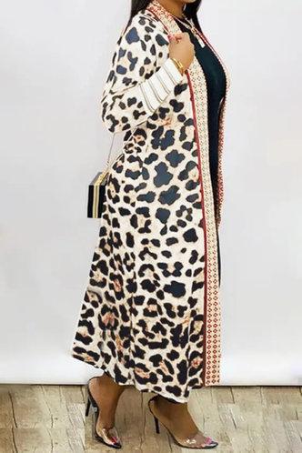 back_Casual Leopard Print Leopard Print Outerwear