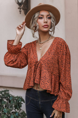 back_Muriel Burnt Orange Blouses