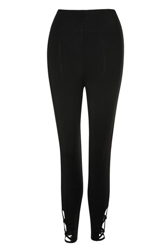 front_Chances Black High Rise Leggings