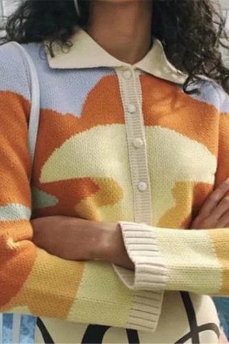 back_Bess Montum Colorblock Button Up Cardigan