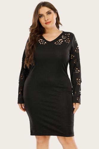 back_Candida Edwina Black Plus Dress