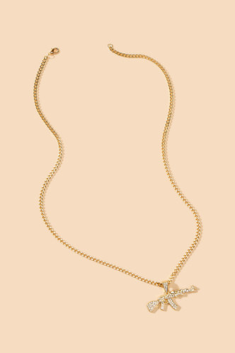 back_Rowena Elsie Gold Rhinestone Charm Necklace
