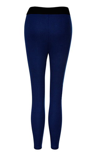 back_Sweat Style Royal Blue Leggings