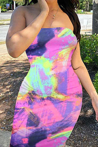 back_Frances Elsie Rose Pink Tie Dye Plus Tube Dress