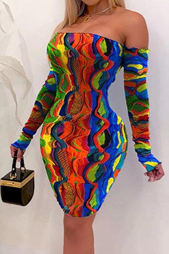 front_Griselda Nakan Multicolor Off Shoulder Bodycon Dress
