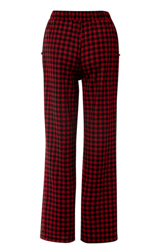 back_Wanted Red And Black Plaid Pants