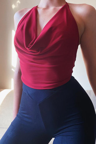 front_Lizzie Erin Red Tank Top