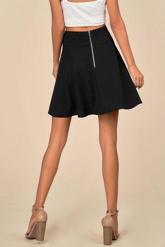 back_Flippy Black Skirt