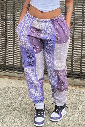 back_Honey Eve Colorblock Sweatpants