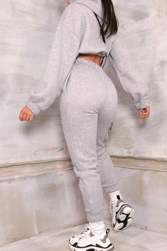 back_Pullover Light Grey Sweatshirt Sets